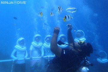 グアム ダイビング 体験ダイビング シーウォーカー バブルリング