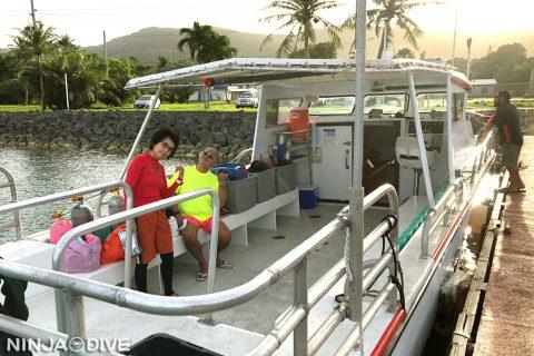 グアム南部 ボートダイビング プライベートダイブ