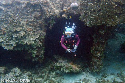 グアム中部 プライベート ファンダイビング ボートダイビング セメントパージ レックダイビング